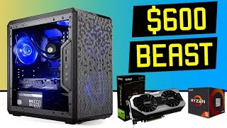 Best pc parts for budget ryzen gaming computer build under 600 dollars. esport games such as fortnite battlefield 5, streamers, content creators ...