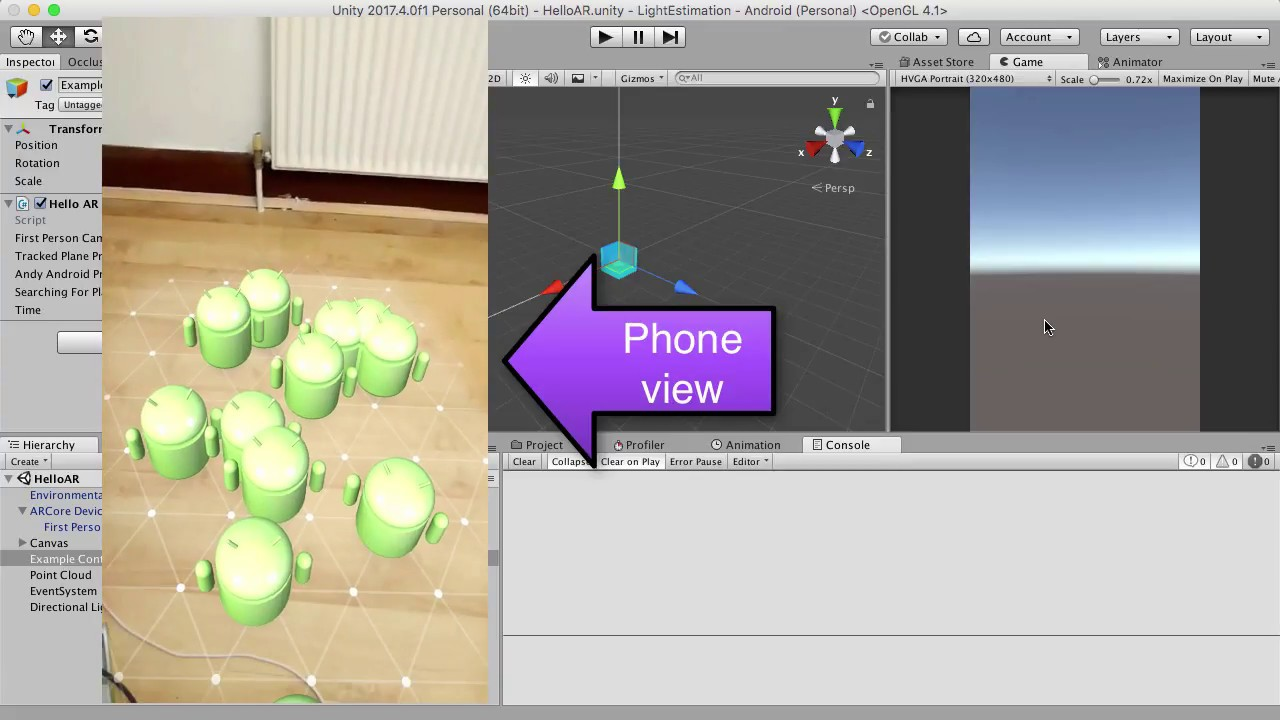 ARCore v1 1 0 Instant Preview & DEBUGGING Unity Tutorial