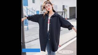 Женская джинсовая куртка бойфренда повседневная свободная с винтажным принтом в корейском стиле
