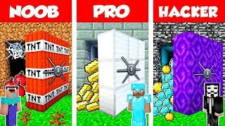 Minecraft Noob Vs Pro Vs Hacker Secret Vault Base Challenge In Minecraft  Animation