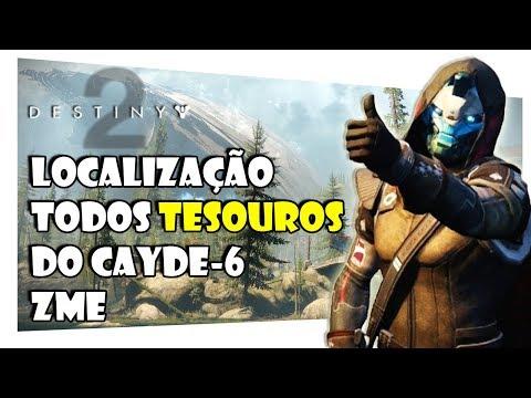 DESTINY 2 - LOCALIZAÇÃO DE TODOS OS TESOUROS do CAYDE-6 ZME 03/10/2017