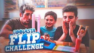 GIMNASTA  RETRASADO FLIP CHALLENGE !! RETO CON MIS PRIMOS - ElChurches