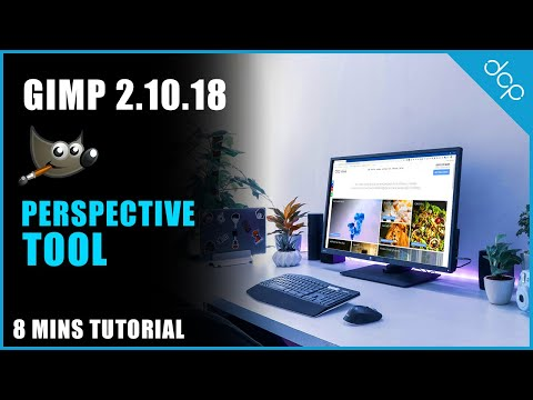 Perspective Tool GIMP 2.10 Tutorial