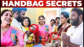 VJ Ashiq Explores Saranya Ponvannan's DSOFT Students Handbag Secrets