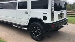 White h2 Hummer limo rental Atlanta