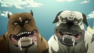 Repeat youtube video Compilation of dogs dying in jojo's bizarre adventure (sub)