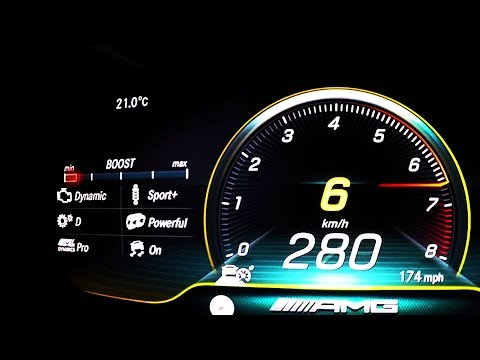 2018 Mercedes-AMG C 63 S Coupé (C205 Mopf) 0-100 kmh kph 0-60 mph Tachovideo  Acceleration