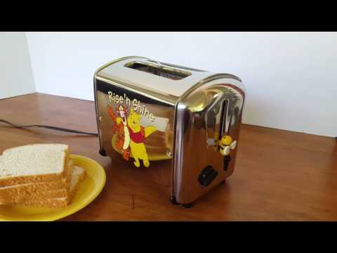 Winnie the Pooh Rise and Shine Toaster in Action