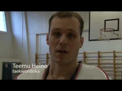 Teemu Heino kutsuu katsojat taekwondon SM-finaalin Olympiakamppailutapahtumaan 6.11.2011