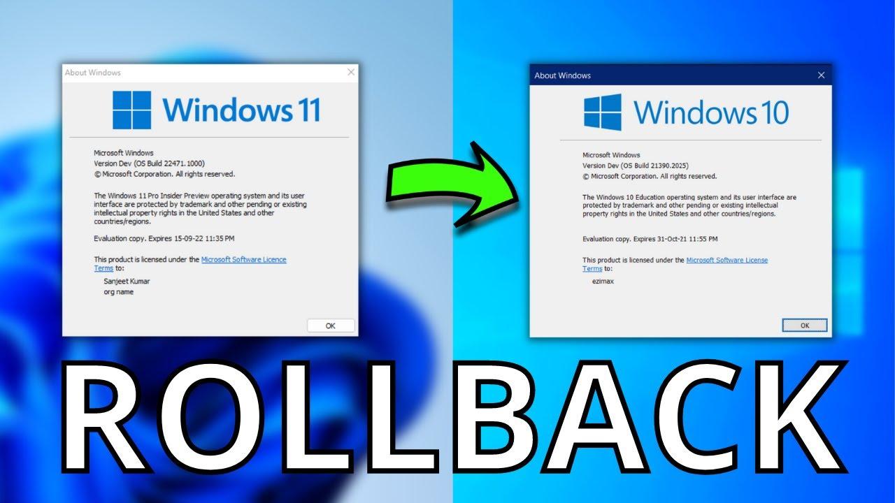 How to Downgrade from Windows 11 to Windows 10 [2 ways]