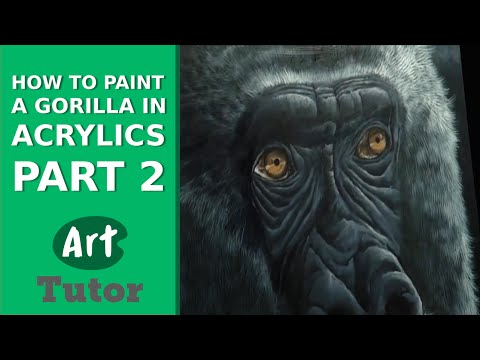 How to Paint a Gorilla in Acrylics (Part 2)