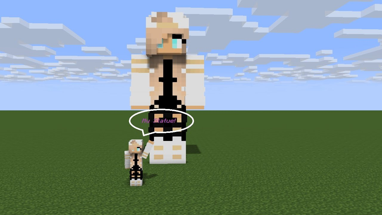 Minecraft Skin Statues TimeLapse LittleKawaiiGens Statue YouTube - Kleine skins fur minecraft