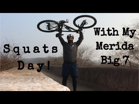 Squats Day With Merida! How to do Squats with a Bicycle!