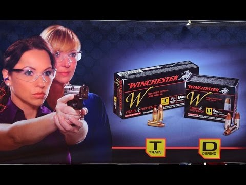 Winchester Train and Defend line of handgun ammunition at SHOT Show 2014