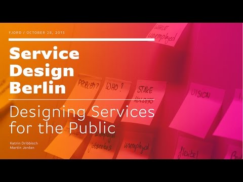 Service Design Drinks: Designing services for the public