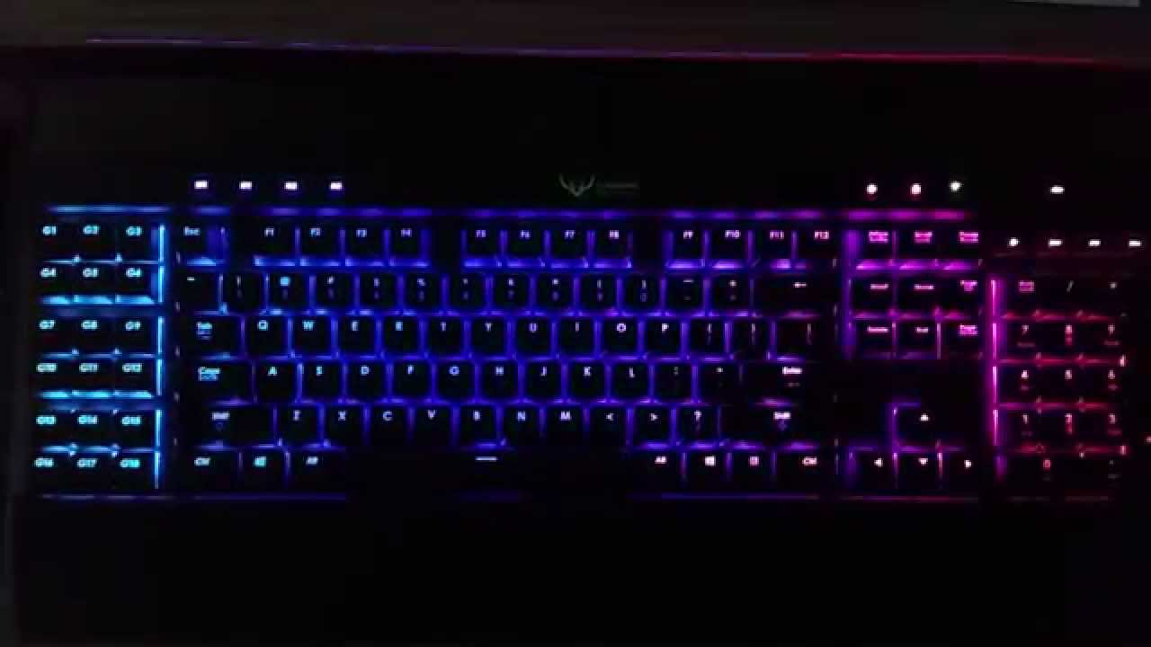 how to turn the lights on k70 rgb colors