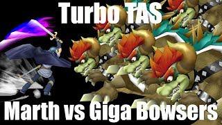 Turbo TAS: Marth vs 5 Giga Bowsers