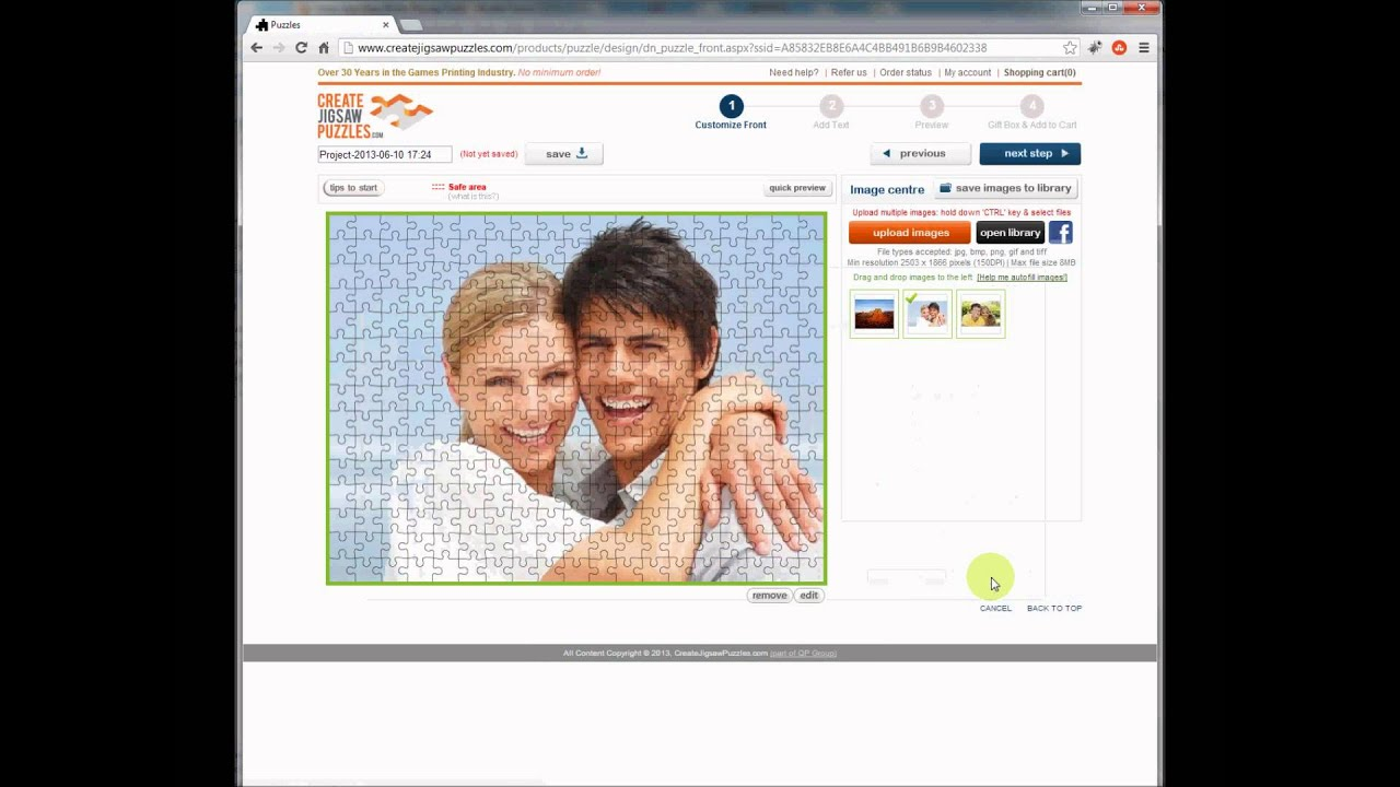Custom Jigsaw Puzzles Photo Printing Manufacturer