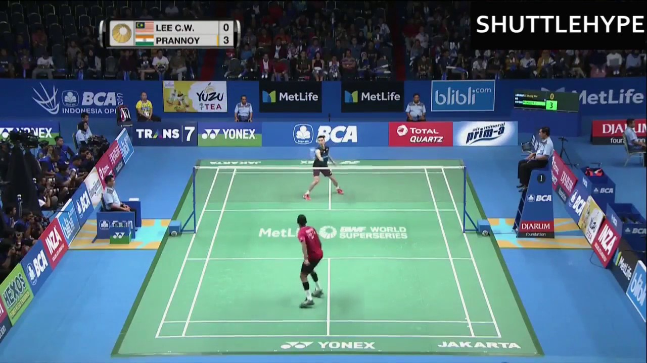 Highlight Prannoy Kumar Jiplak Backhand Taufik Hidayat weapon