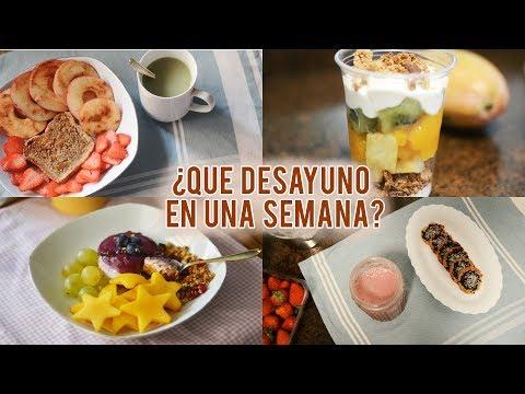 ¿Qué desayuno (sano) en una semana?