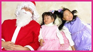 Yume and Rena Play with Santa Claus - Christmas gifts story!