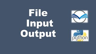 Download File input Output in Python   Python File Handling   Manipulating Directories in Python   File I/O
