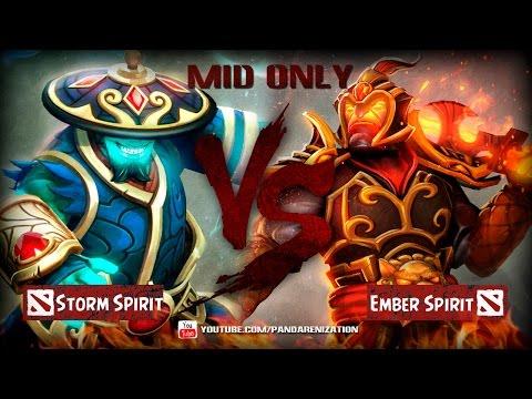 видео: storm spirit vs ember spirit [Битва героев mid only] dota 2