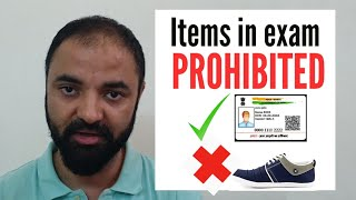 CAT 2018 Items PROHIBITED inside the Exam Lab