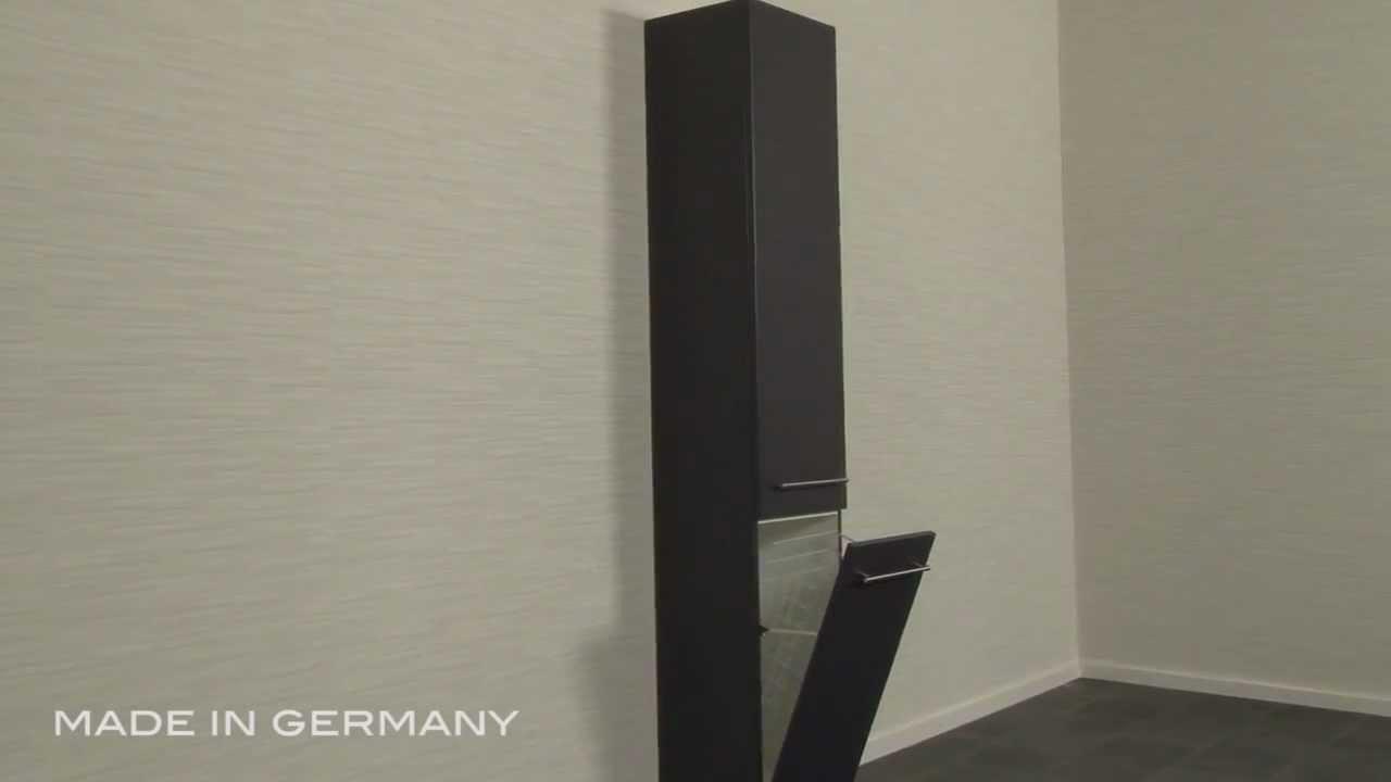 Hochschrank 180 Cm Mit Wascheklappe Anthrazit Mp4 Youtube