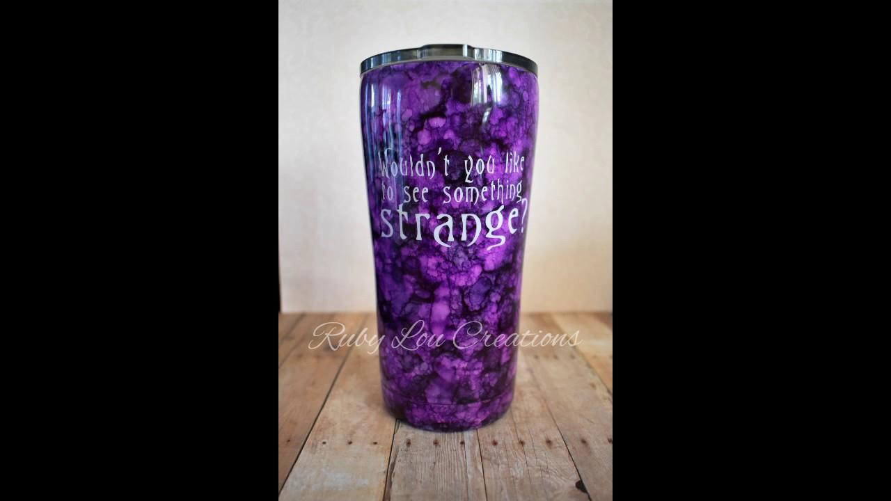 Alcohol Ink Tumbler Jack Skellington Tutorial Youtube
