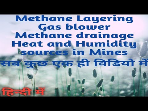 Methane layering, gas blower, methane drainage etc