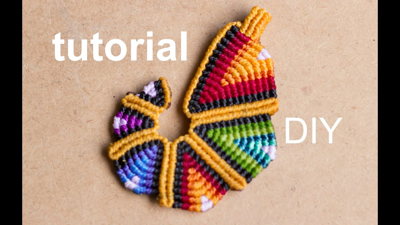 Tutorial colgante macram arcoiriz pendant rainbow - Colgantes de macrame ...