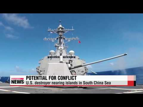 U.S. destroyer nearing China-built islands in South China Sea   ″미 구축함, 중국