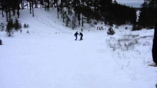 обучение на сноуборде. Новый Год 2014.Пенза