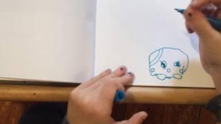 How to draw a bubblegum shopkin