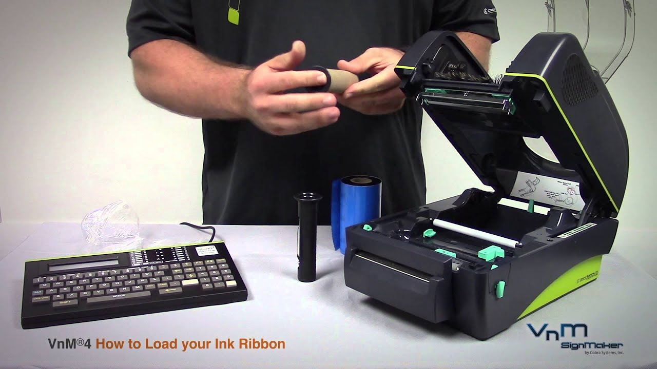 vnm4 signmaker how to load your ink ribbon