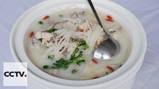 Сельский суп с кусочками редьки