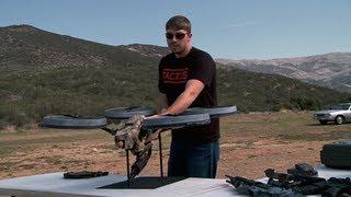 Prototype Quadrotor with Machine Gun! thumbnail