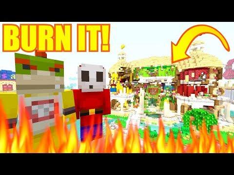 IS THAT THE FUN HOUSE?! BURN IT!  Nintendo Fun House  Minecraft Switch 299