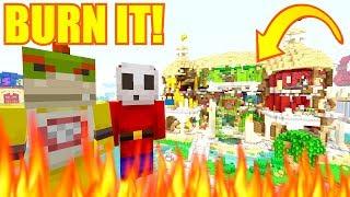 IS THAT THE FUN HOUSE?! BURN IT! | Nintendo Fun House | Minecraft Switch [299]