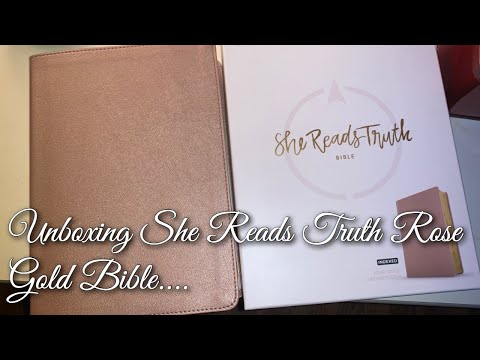 Unboxing Of My She Reads Truth Rose Gold Bible