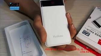 iGIFT l Pin dự phòng Yoobao 12000 mah (có màn hình led) PL12pro