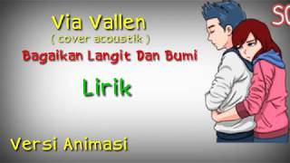 Gambar cover via Vallen - Bagaikan Langit Dan Bumi (cover acoustik) | Versi animasi | Animasi lirik