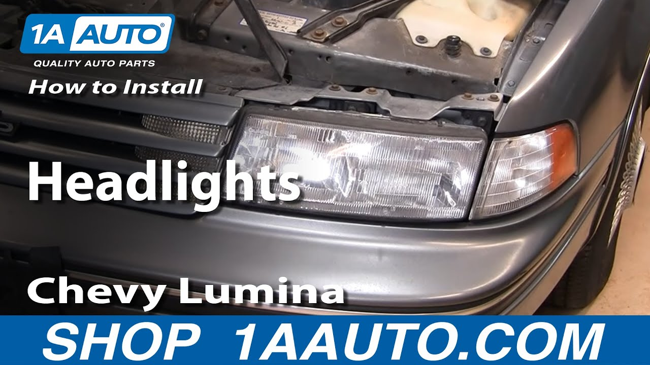 How To Replace Headlights 90 94 Chevy Lumina