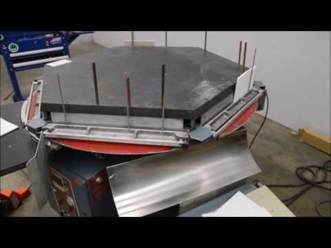 Brackett cpm 101 circular padder machine youtube for Brackett watches