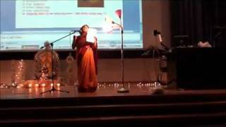 Tagore song by Amrita at Saraswati puja 2011