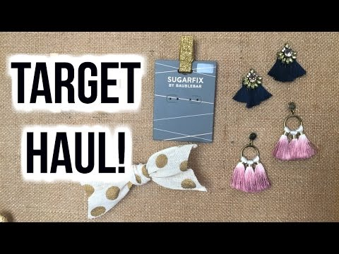 TARGET HAUL!!! | SUGARFIX by BaubleBar & More! - YouTube