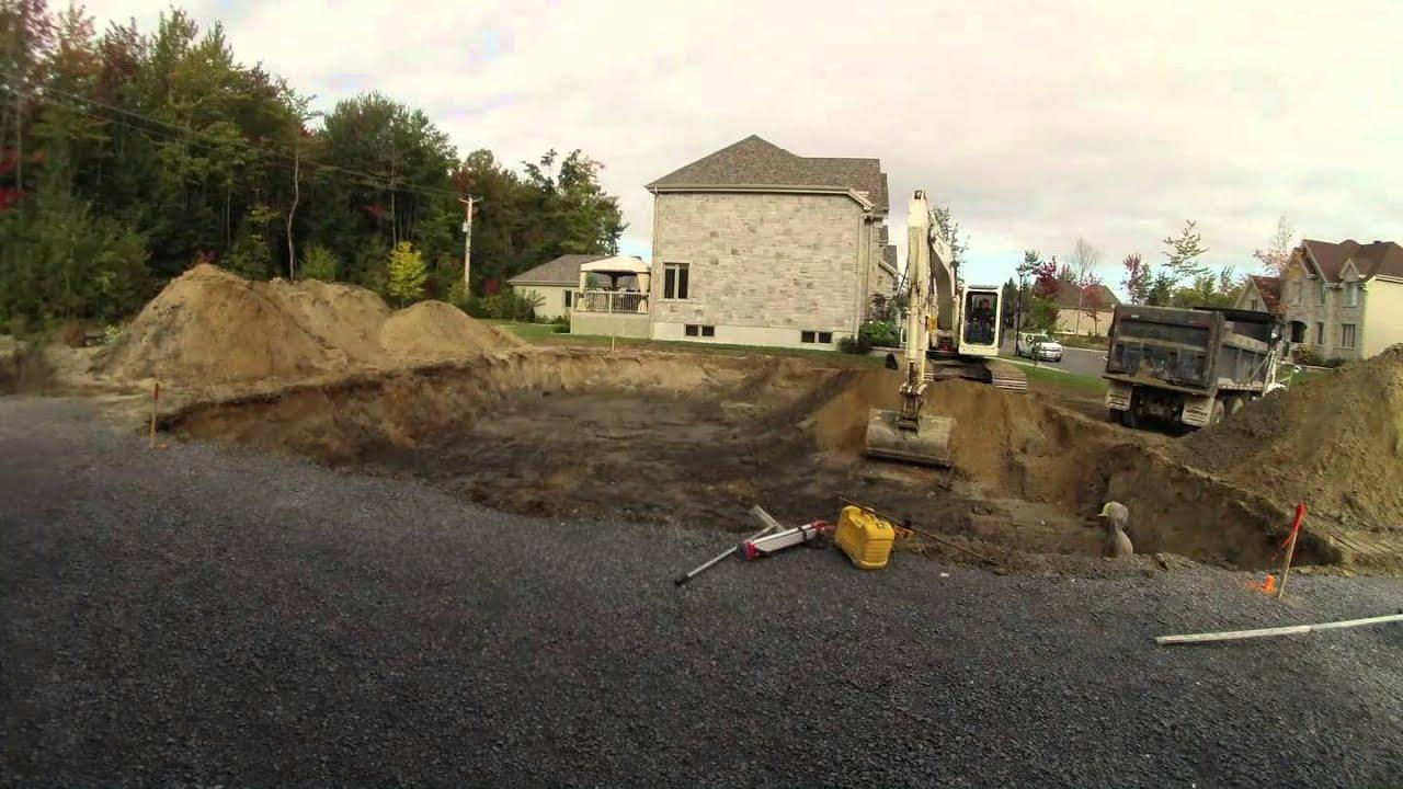 Time lapse excavation et semelle d 39 une construction neuve for Construction maison neuve trois rivieres