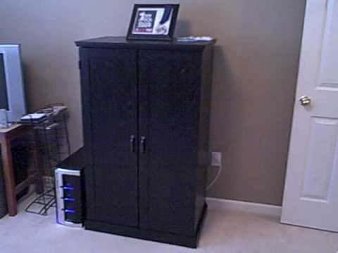 Sauder Computer Armoire, Ebony Ash Finish