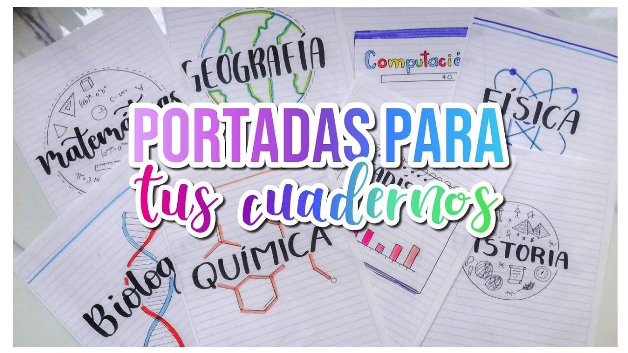 Dibujos Para Portadas De Cuaderno: PORTADAS PARA CUADERNOS DIY